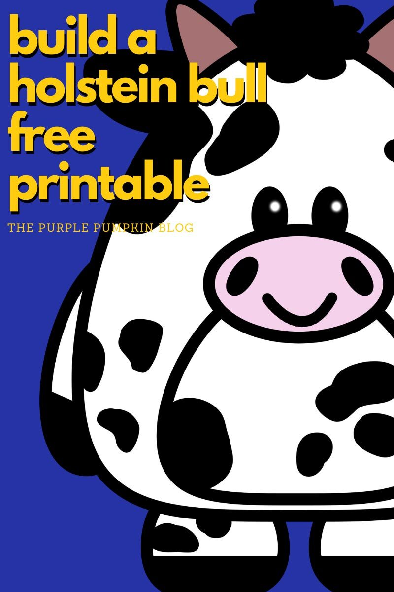 Build a Holstein Bull Free Printable