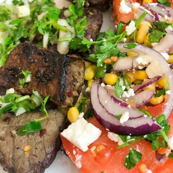 Churrasco Beef & Fresh Tomato Salad