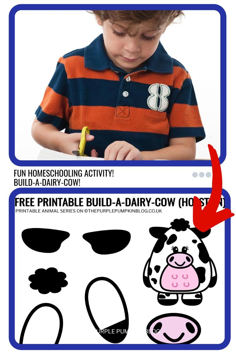 Free Homeschooling Activity - Build A Cow