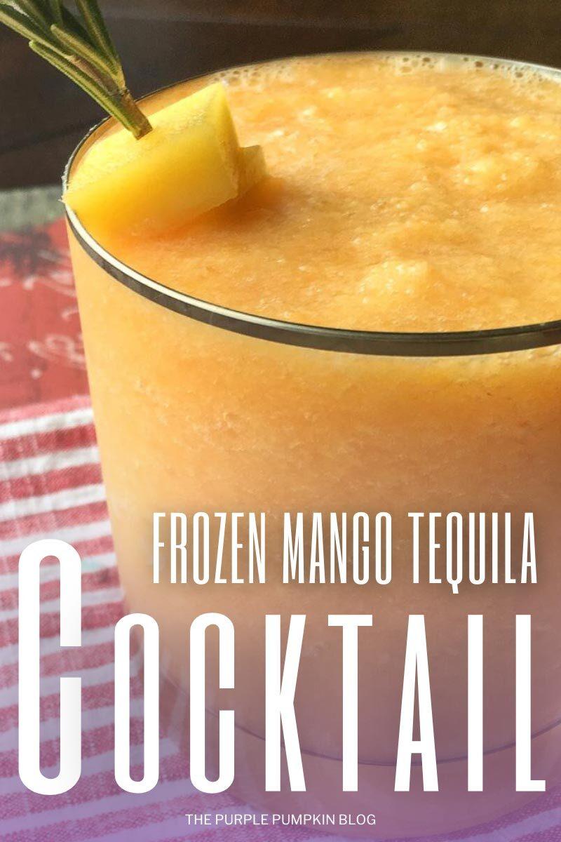 Frozen Mango Tequila Cocktail