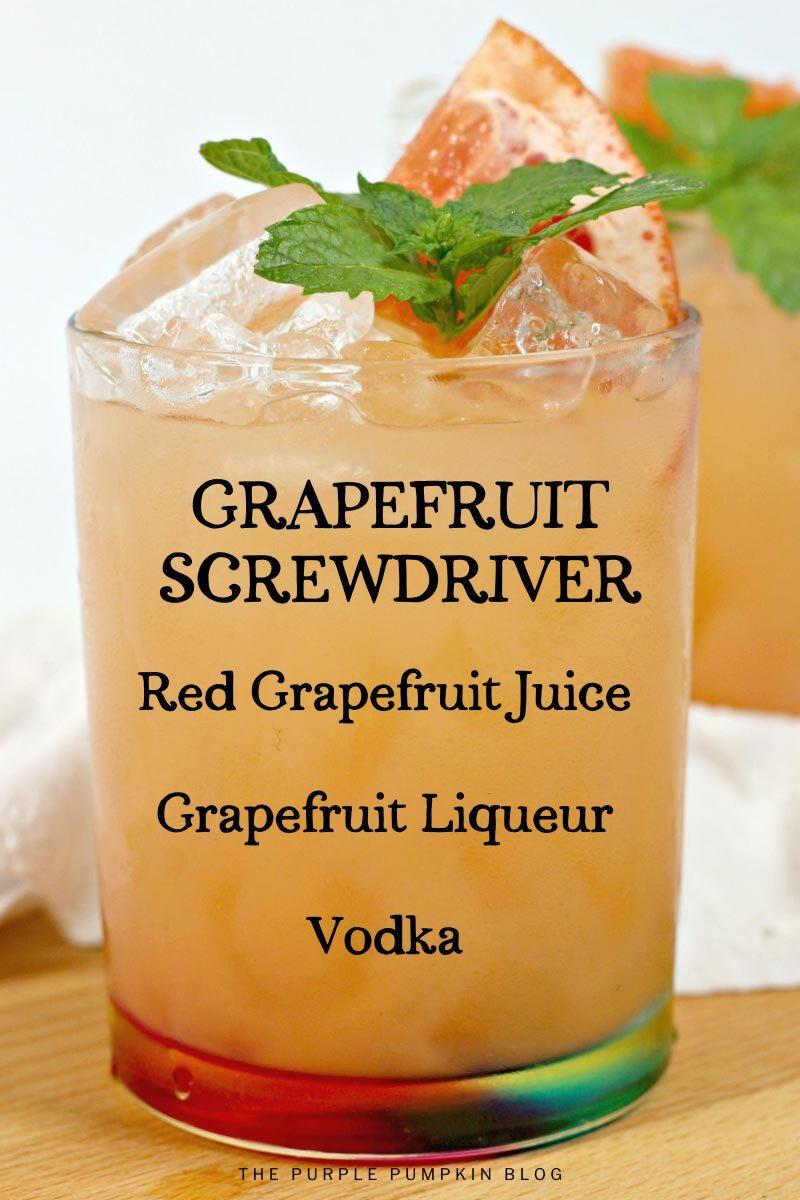 How To Make a Grapefruit Screwdriver