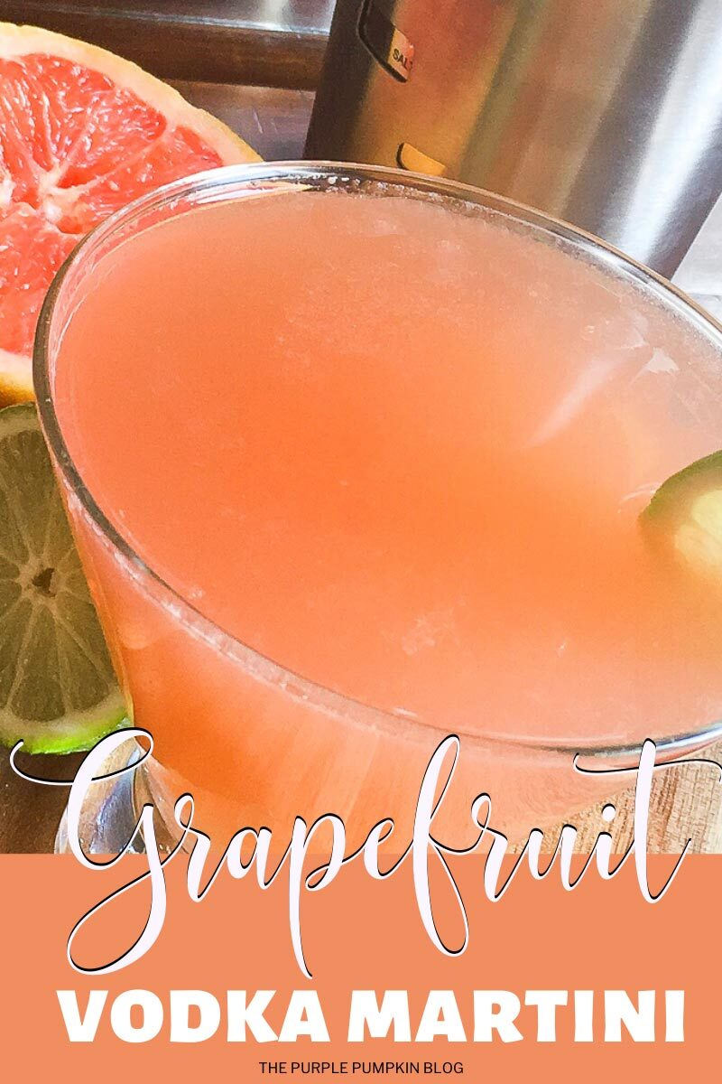Grapefruit Vodka Martini
