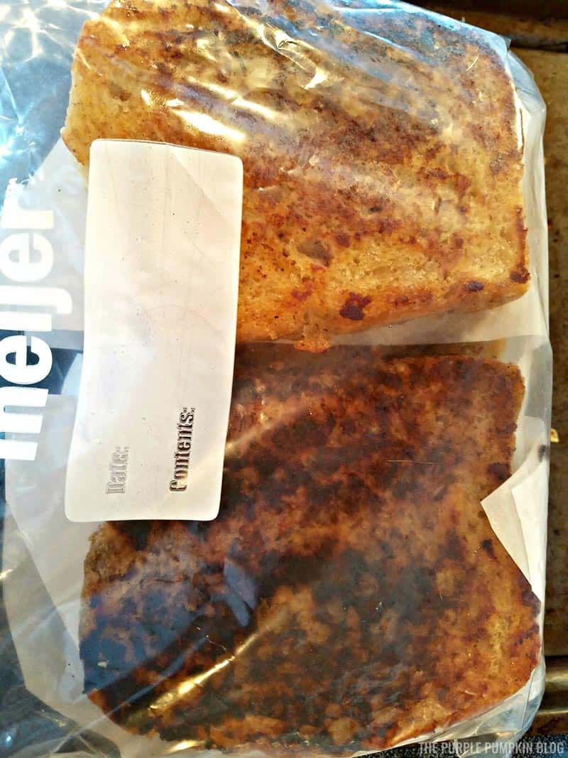 Make-Ahead French Toast sealed in food bag