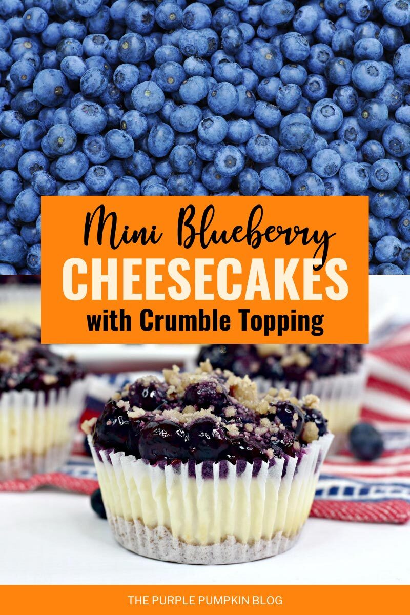 Mini Blueberry Cheesecakes with Crumble Topping
