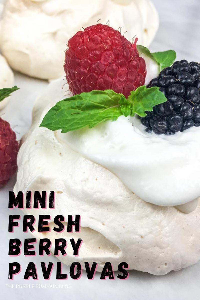 Mini Fresh Berry Pavlovas