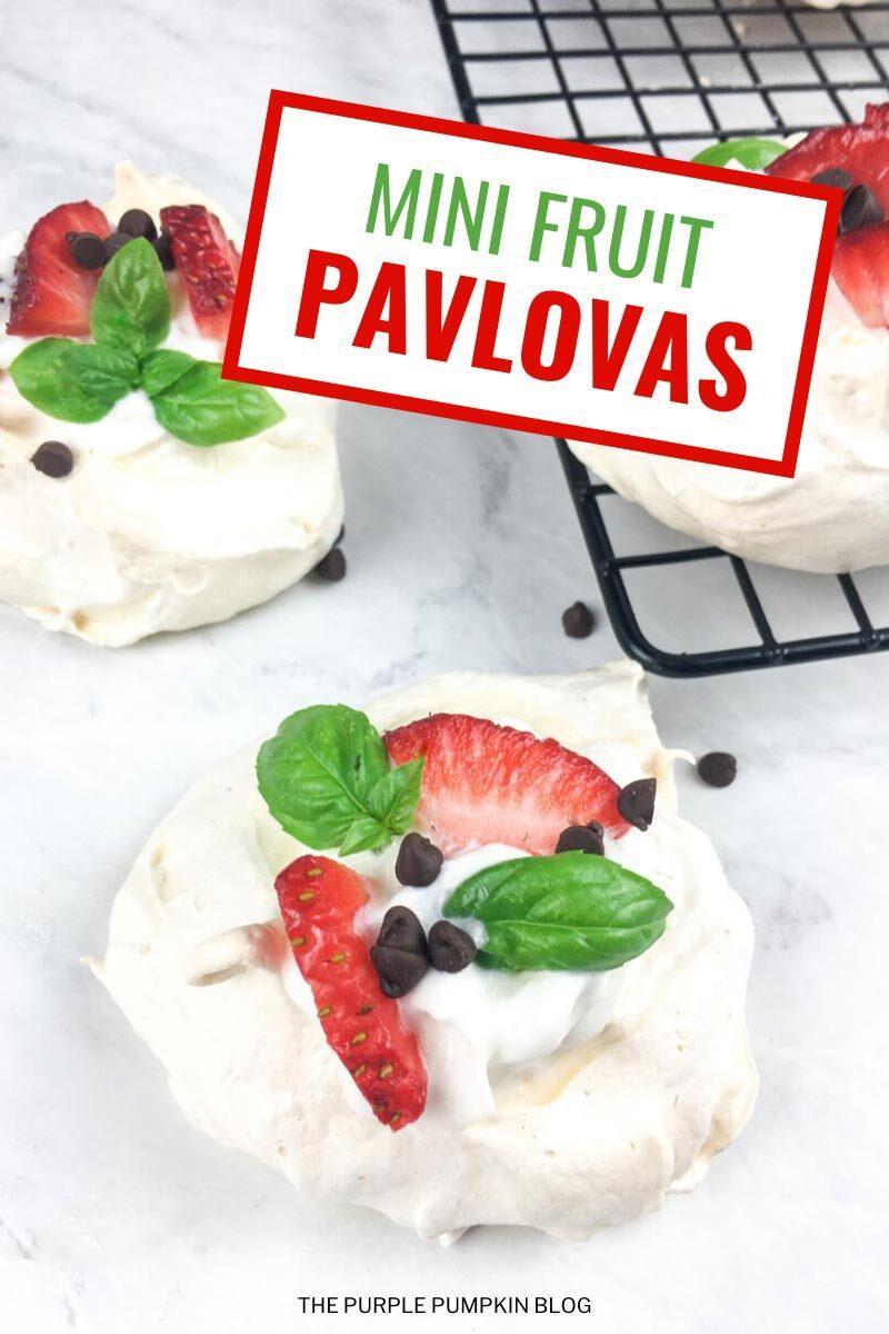 Mini Fruit Pavlovas