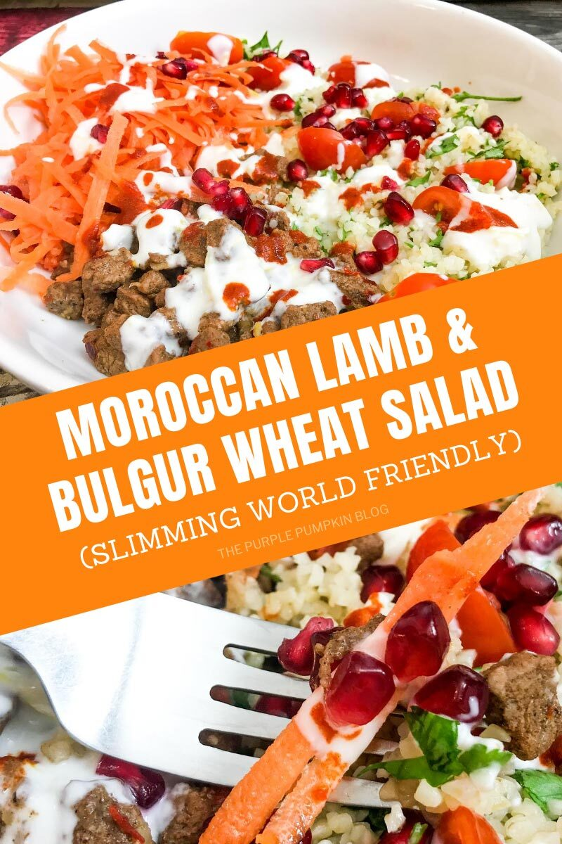 Moroccan Lamb & Bulgur Wheat Salad - Slimming World Friendly