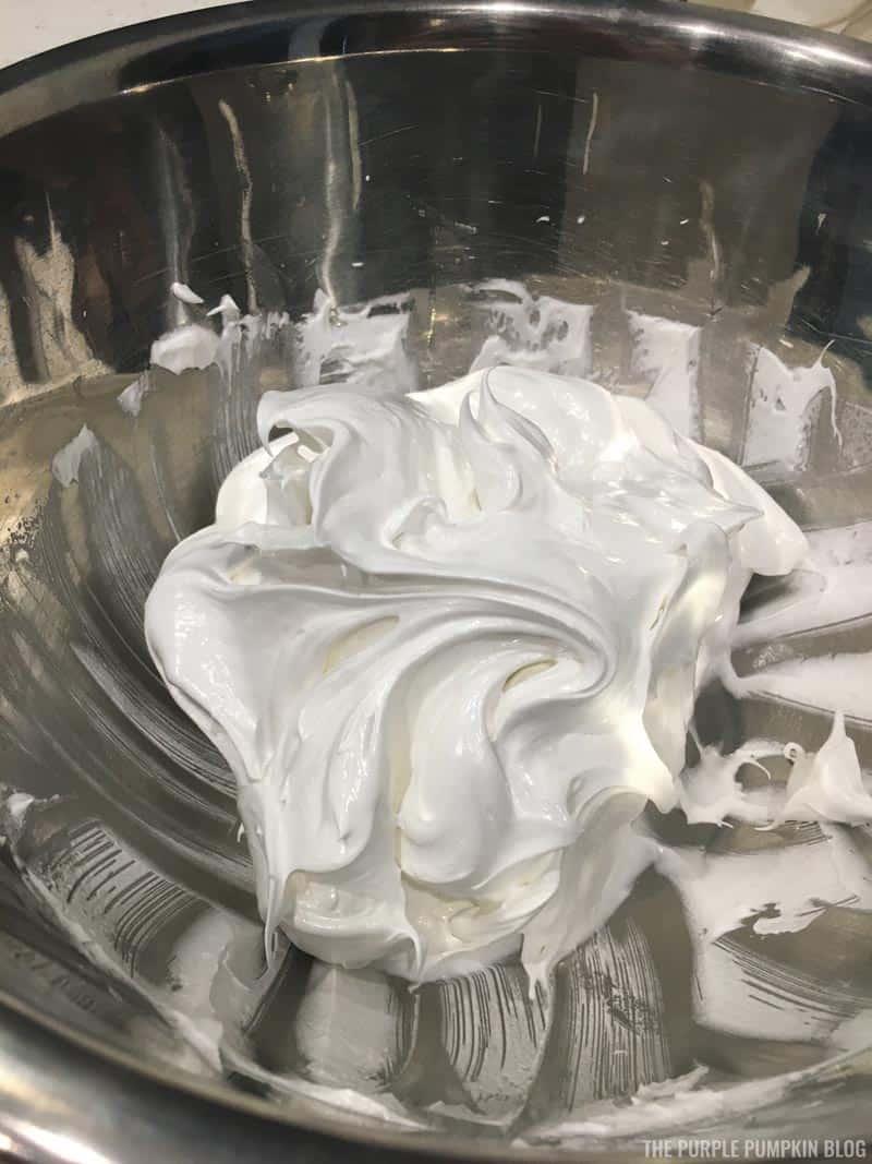 Whisked meringue