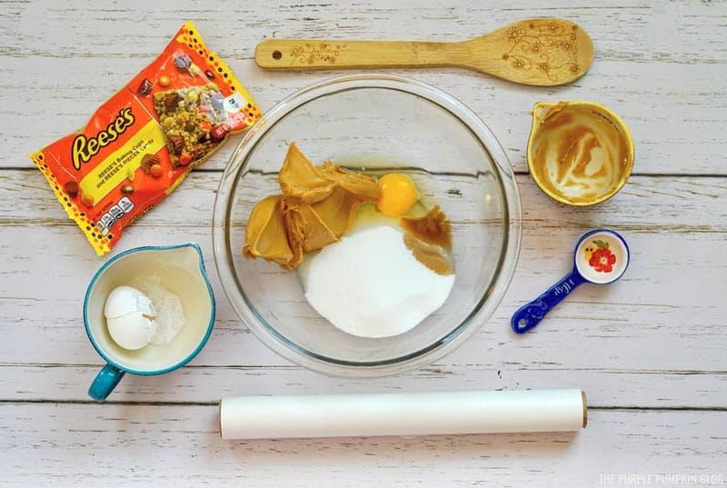 Cookie Ingredients in bowl