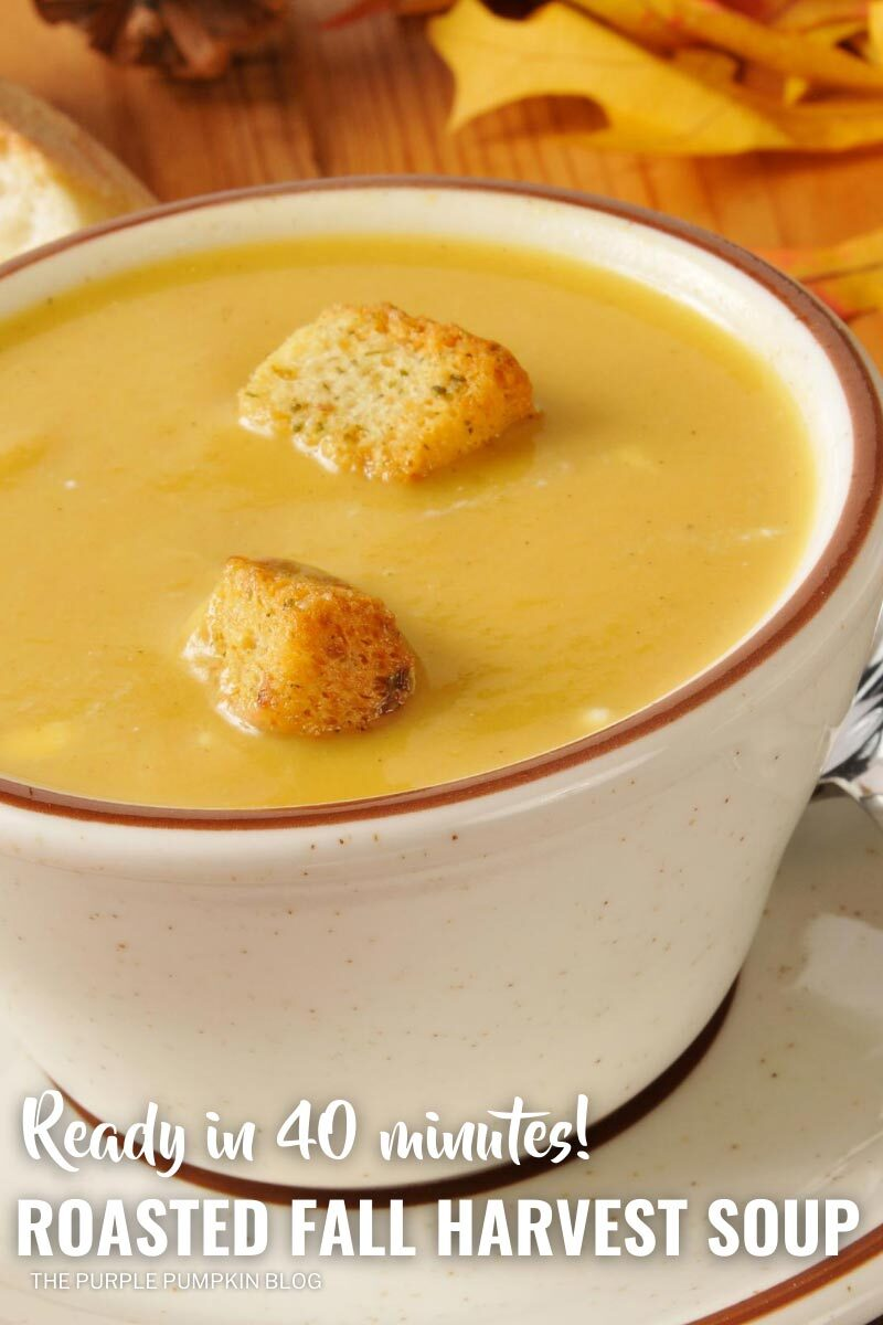 Roasted Fall Harvest Soup - Ready in 40 Minutes!