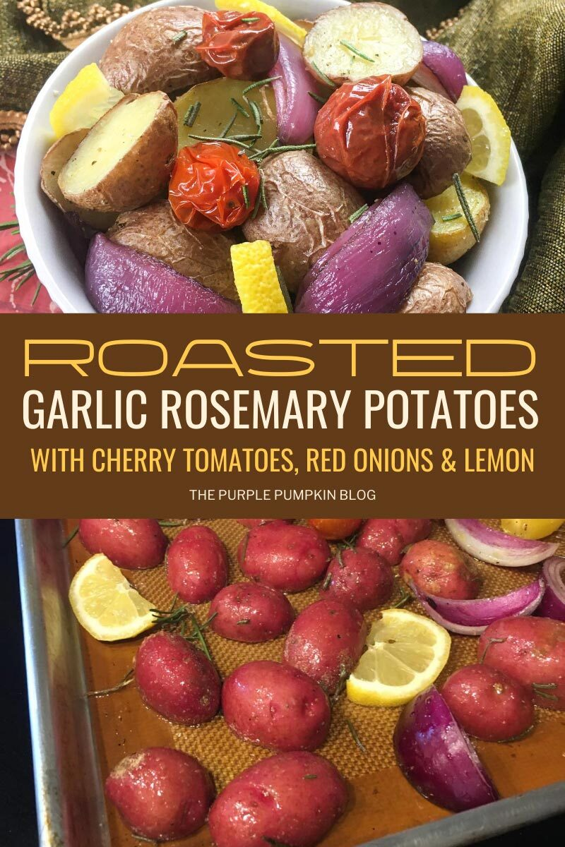 Roasted Garlic Rosemary Potatoes with Cherry Tomatoes, Red Onions & Lemon