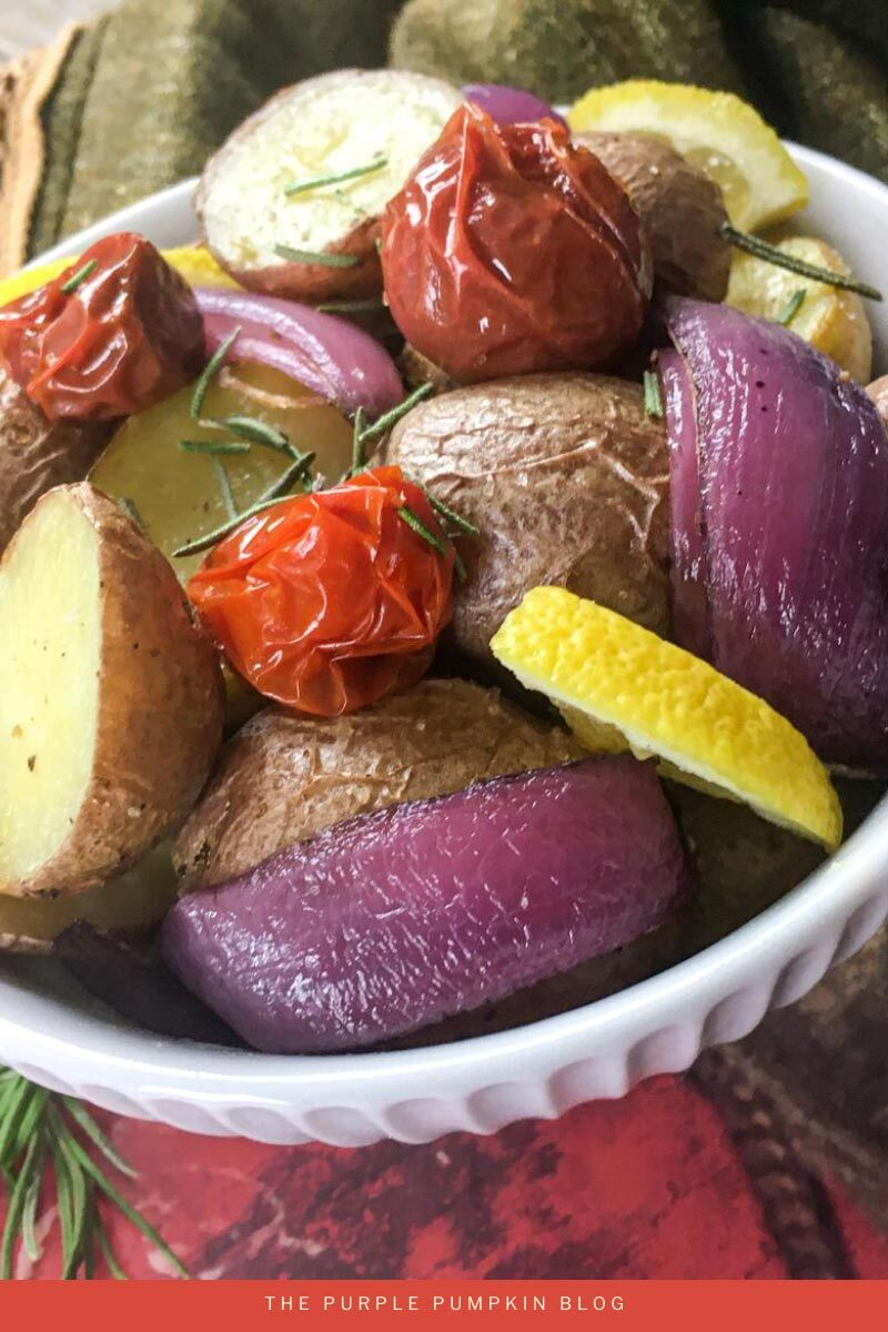 Roasted Rustic Potatoes Side Dish