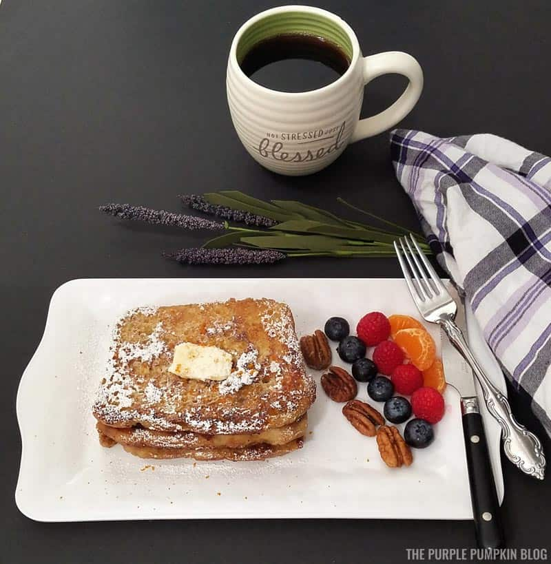 Served French Toast
