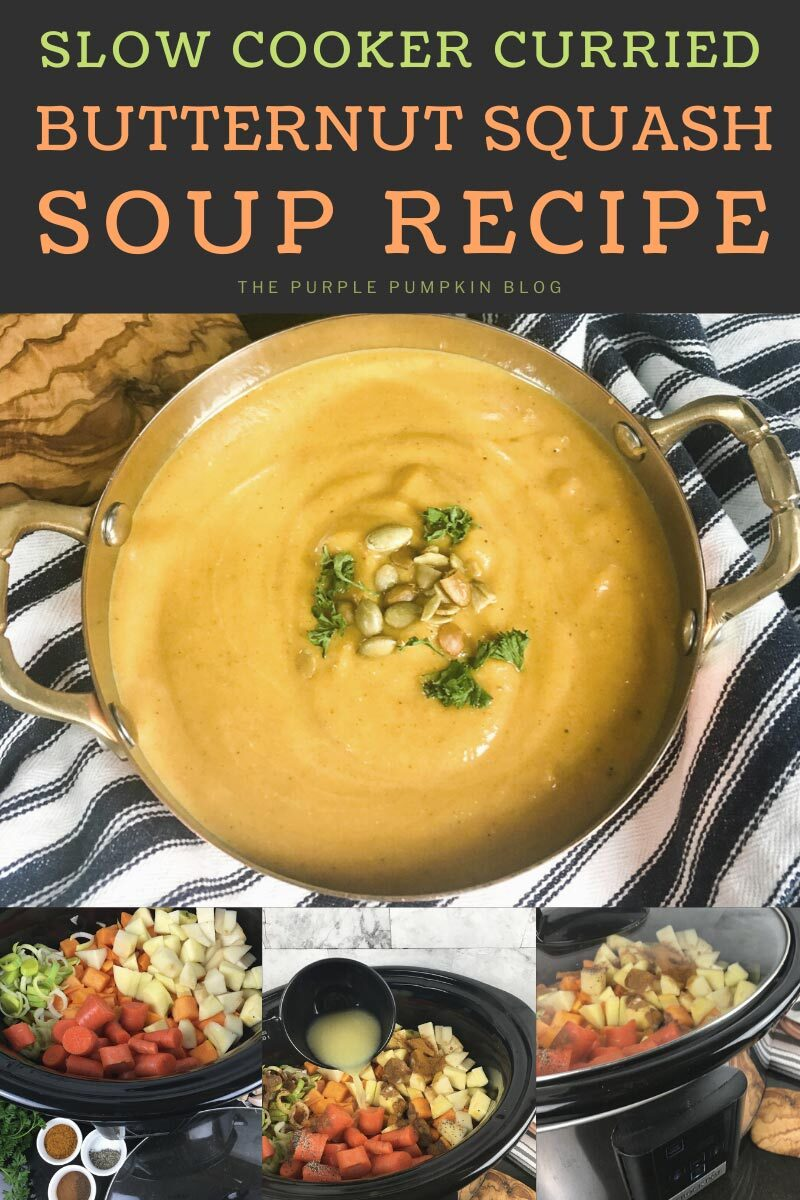 Slow Cooker Curried Butternut Squash Soup Recipe