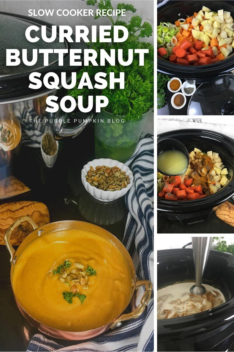 Slow Cooker Recipe - Curried Butternut Squash Soup