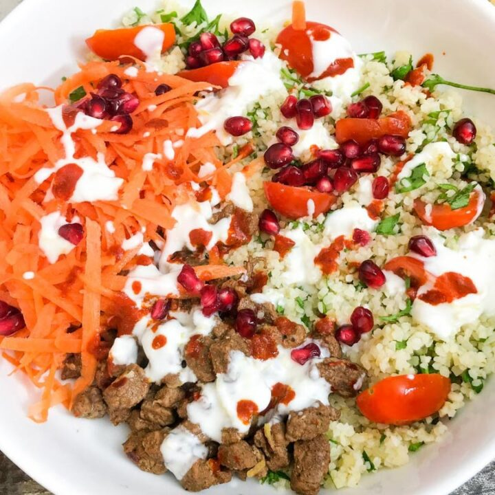 Spicy Lamb & Bulgur Wheat Salad
