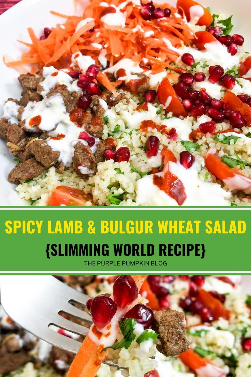 Spicy Lamb & Bulgur Wheat Salad - Slimming World Recipe