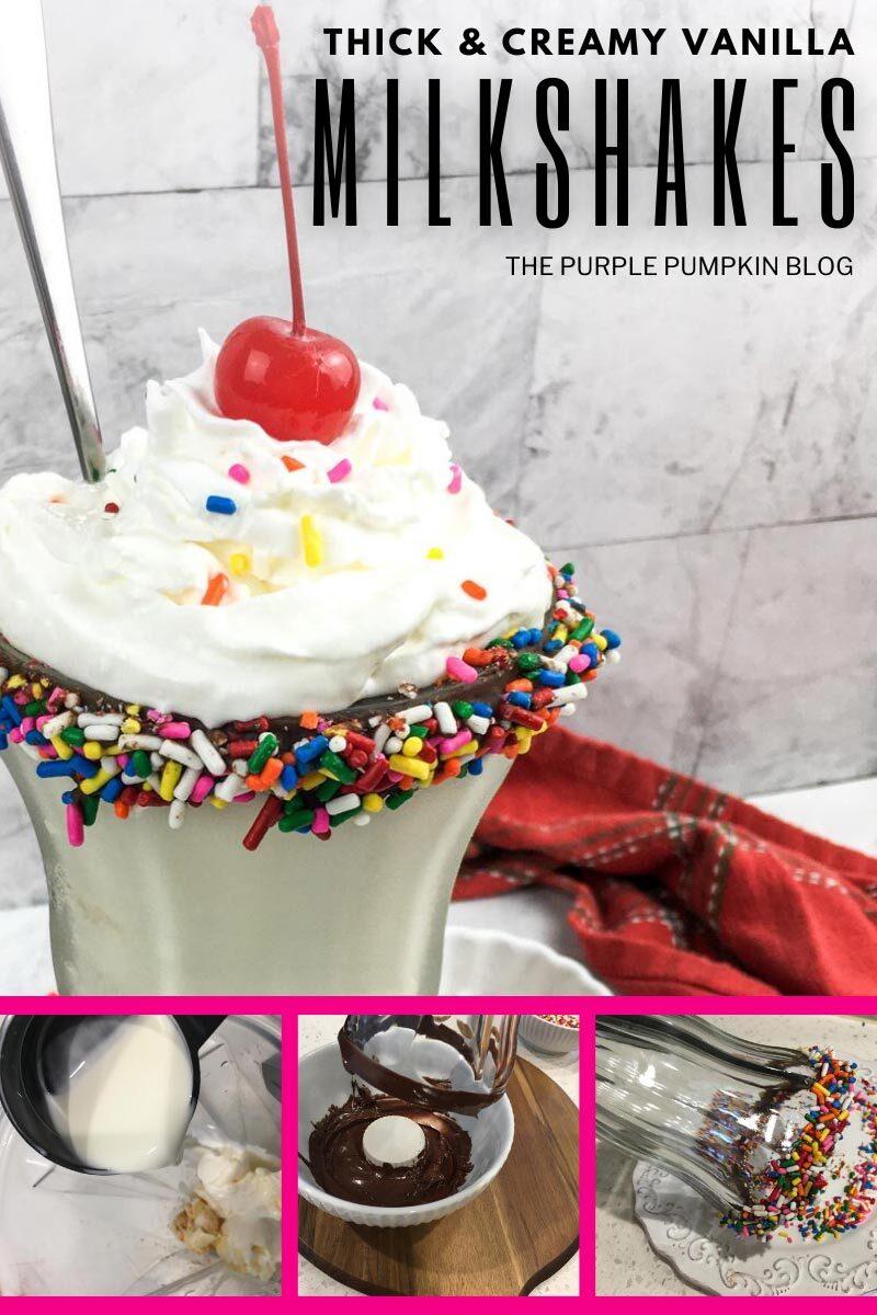 Thick & Creamy Vanilla Milkshakes