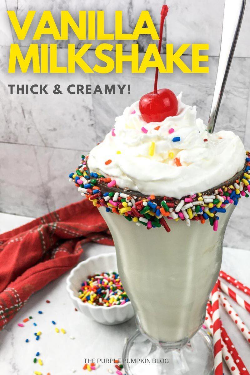 Thick & Cream Vanilla Milkshake Recipe