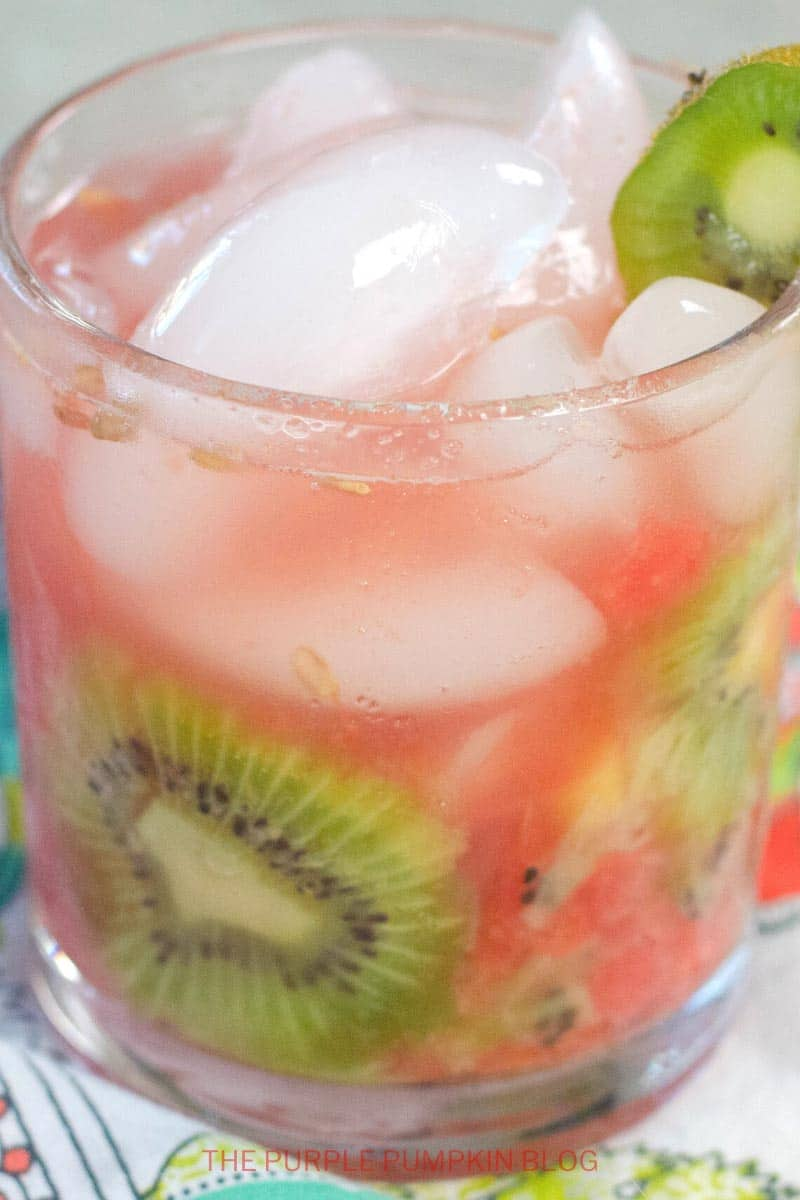Watermelon Kiwi Wine Cocktail