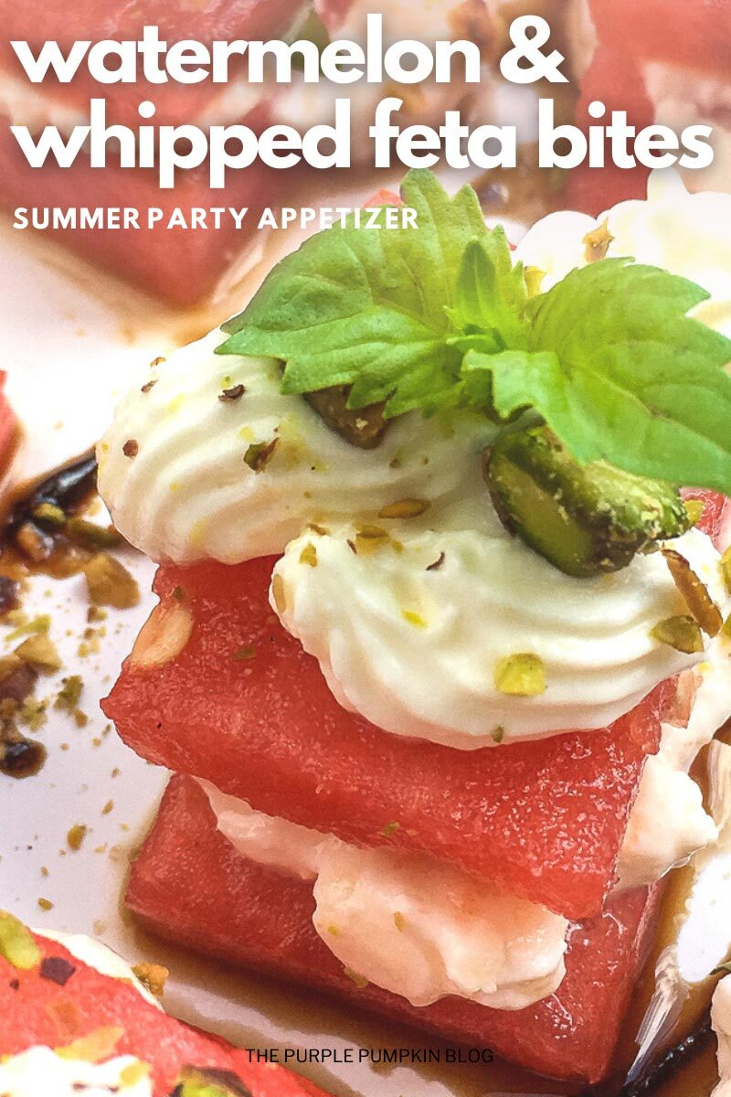 Watermelon & Whipped Feta Bites - Summer Party Appetizer