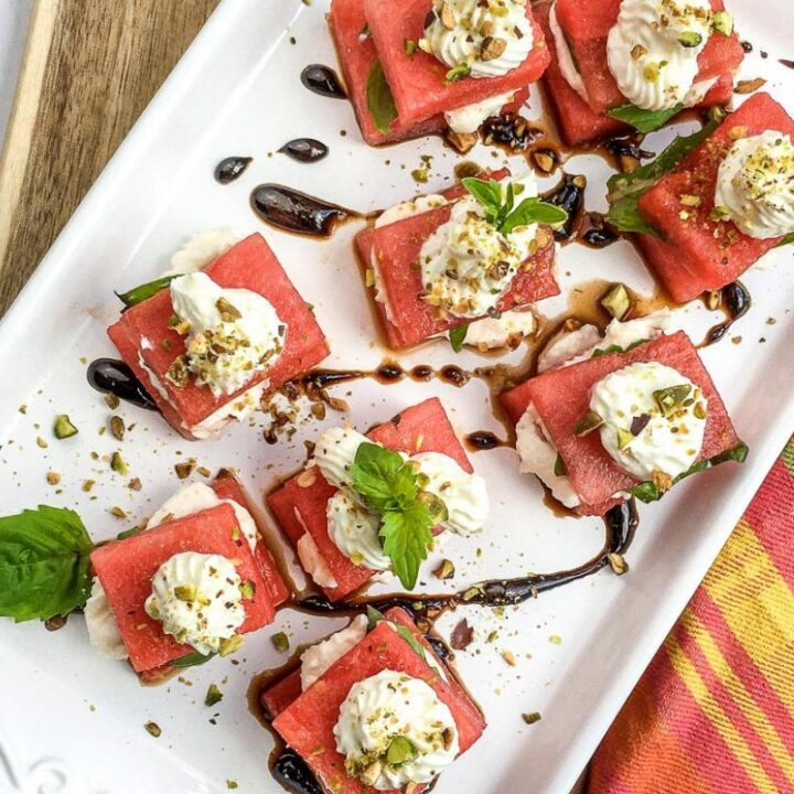 Watermelon and Whipped Feta Bites