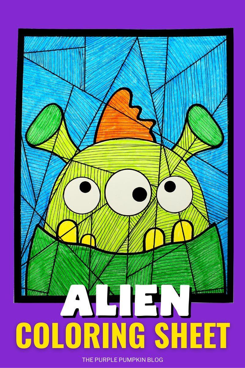 Alien Coloring Sheet