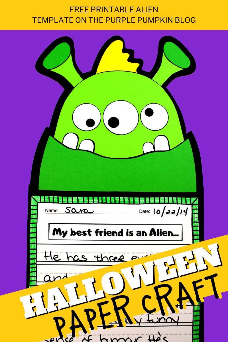 Alien Halloween Paper Craft