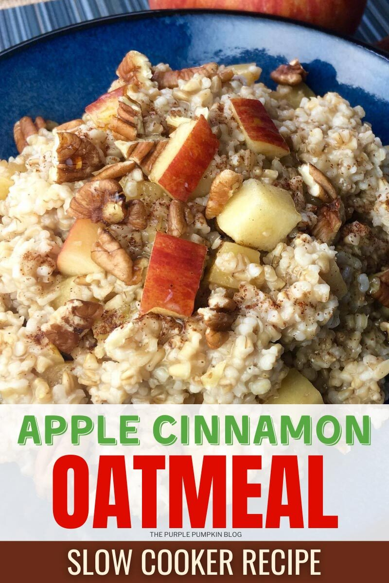 Apple Cinnamon Oatmeal Slow Cooker Recipe