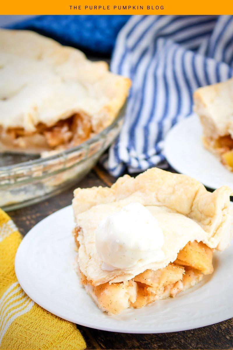 Homemade Apple Pie with No-Churn Vanilla Ice Cream