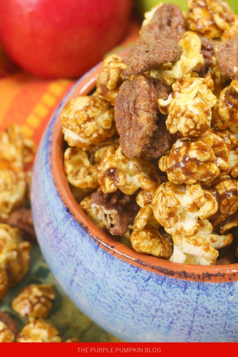 Apple Pie Spiced Bourbon Popcorn Mix
