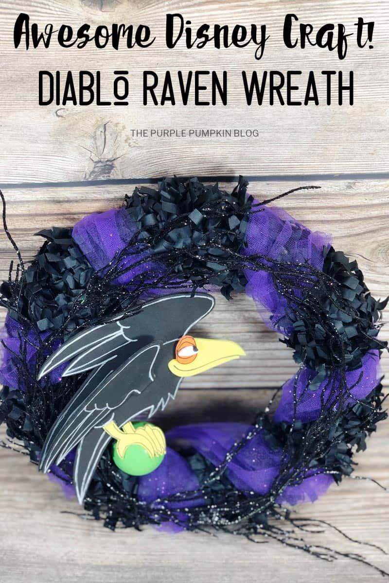 Awesome-Disney-Craft-Diablo-Raven-Wreath