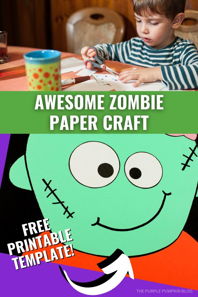 Awesome Zombie Paper Craft - Free Printable Template