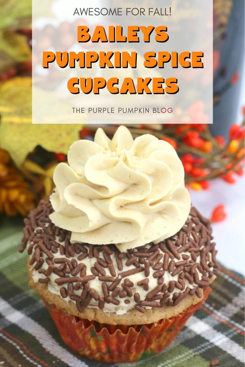 Baileys Pumpkin Spice Cupcakes Recipe for Fall