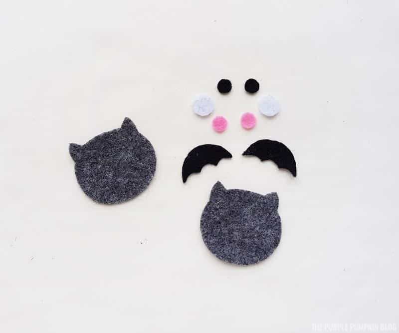 bat felt pieces