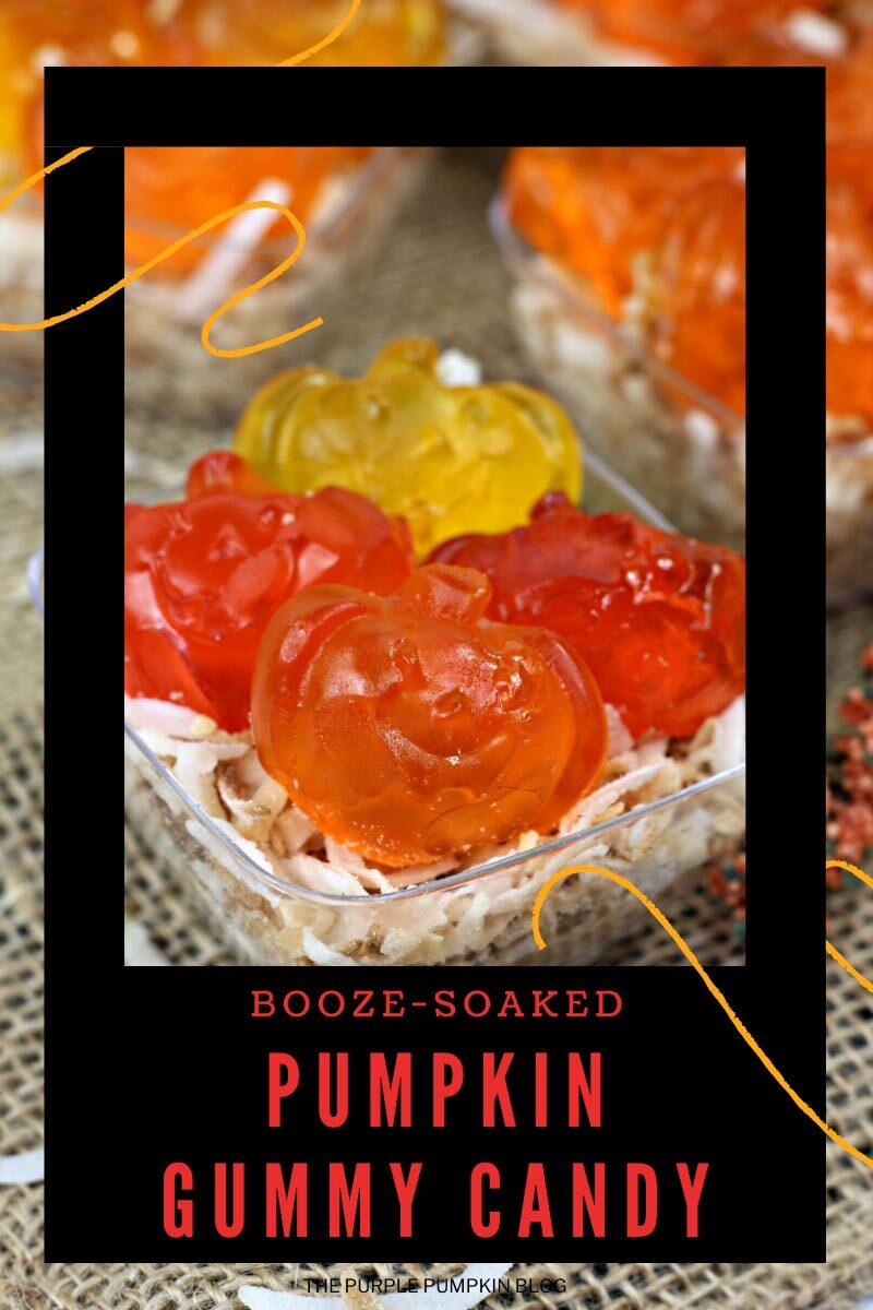Booze Soaked Pumpkin Gummy Candy