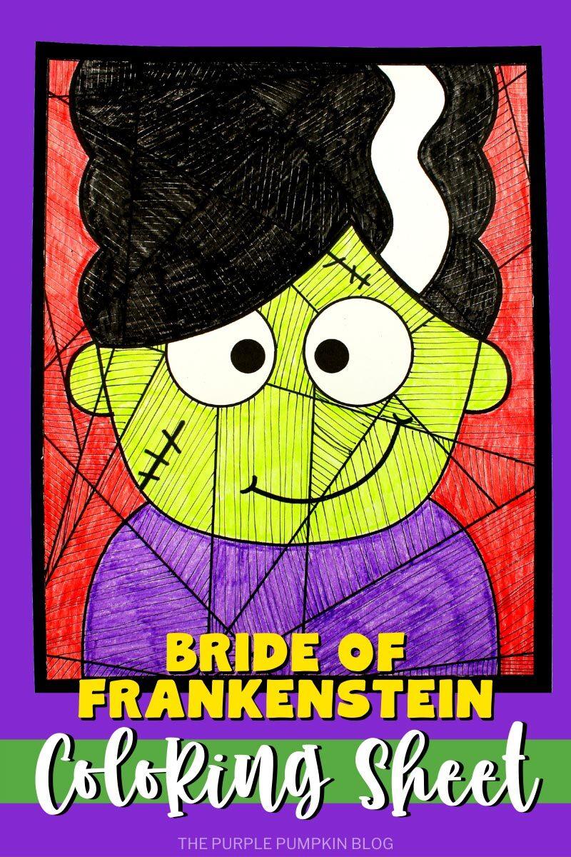 Bride of Frankenstein Coloring Sheet