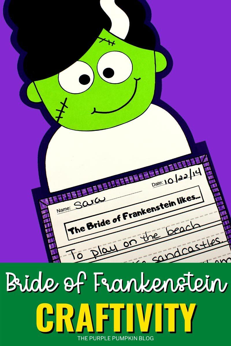 Bride of Frankenstein Craftivity