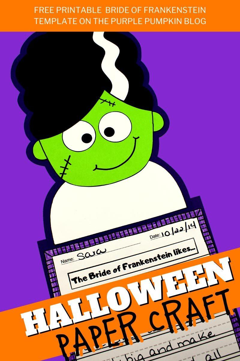 Bride of Frankenstein Halloween Paper Craft