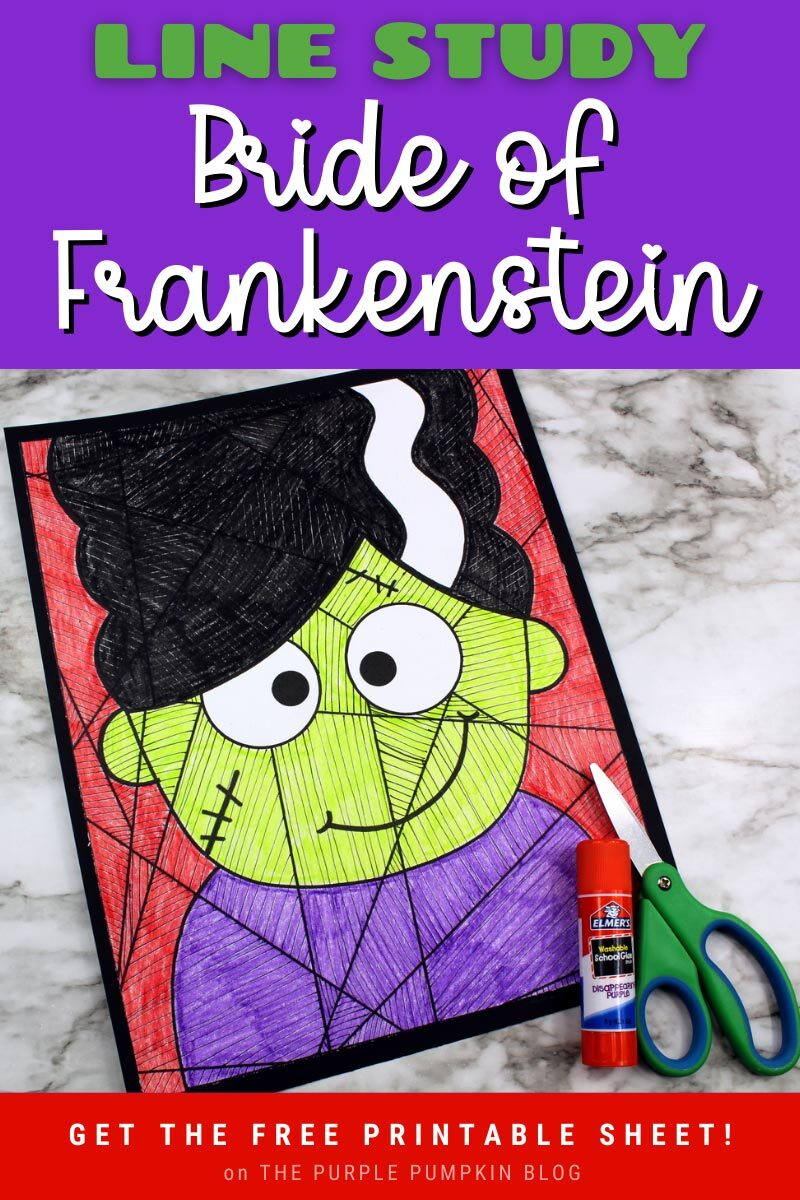 Bride of Frankenstein Line Study Printable