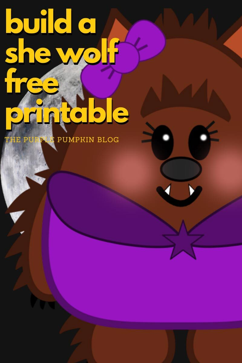 Build a She-Wolf Free Printable
