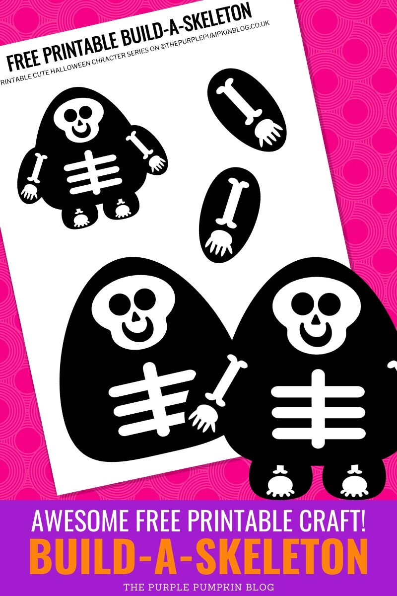 Build a Skeleton - Awesome free Printable Craft