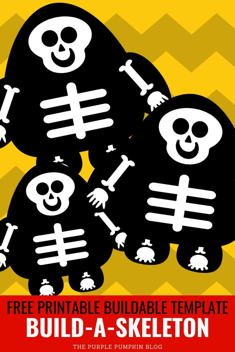 Build a Skeleton - Free Printable Buildable Template