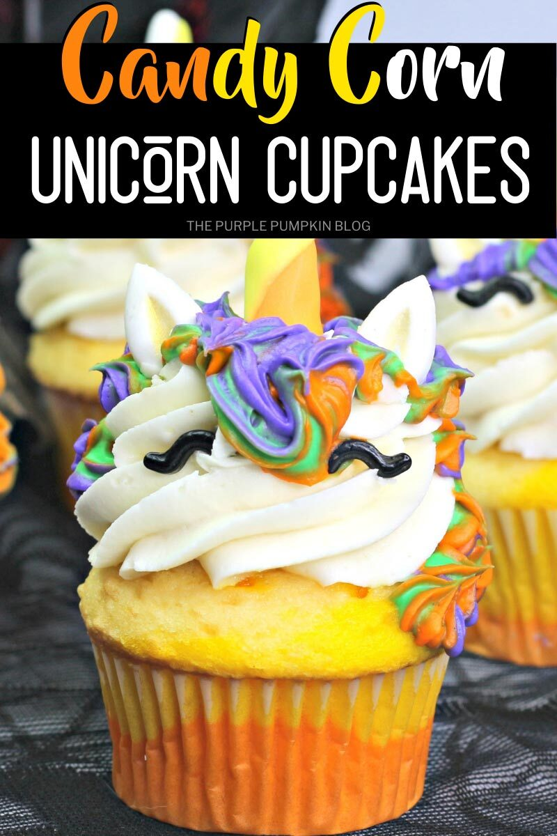 Candy Corn Unicorn Cupcakes