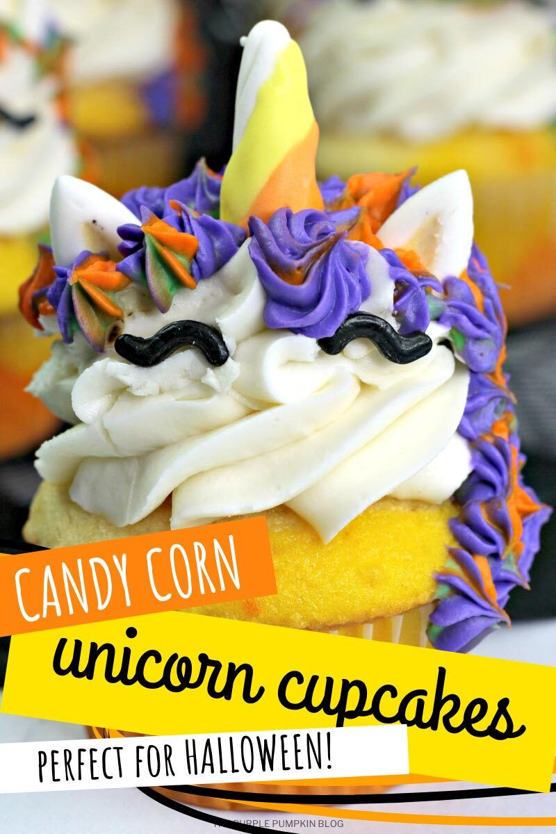 Candy Corn Unicorn Cupcakes - Perfect for Halloween