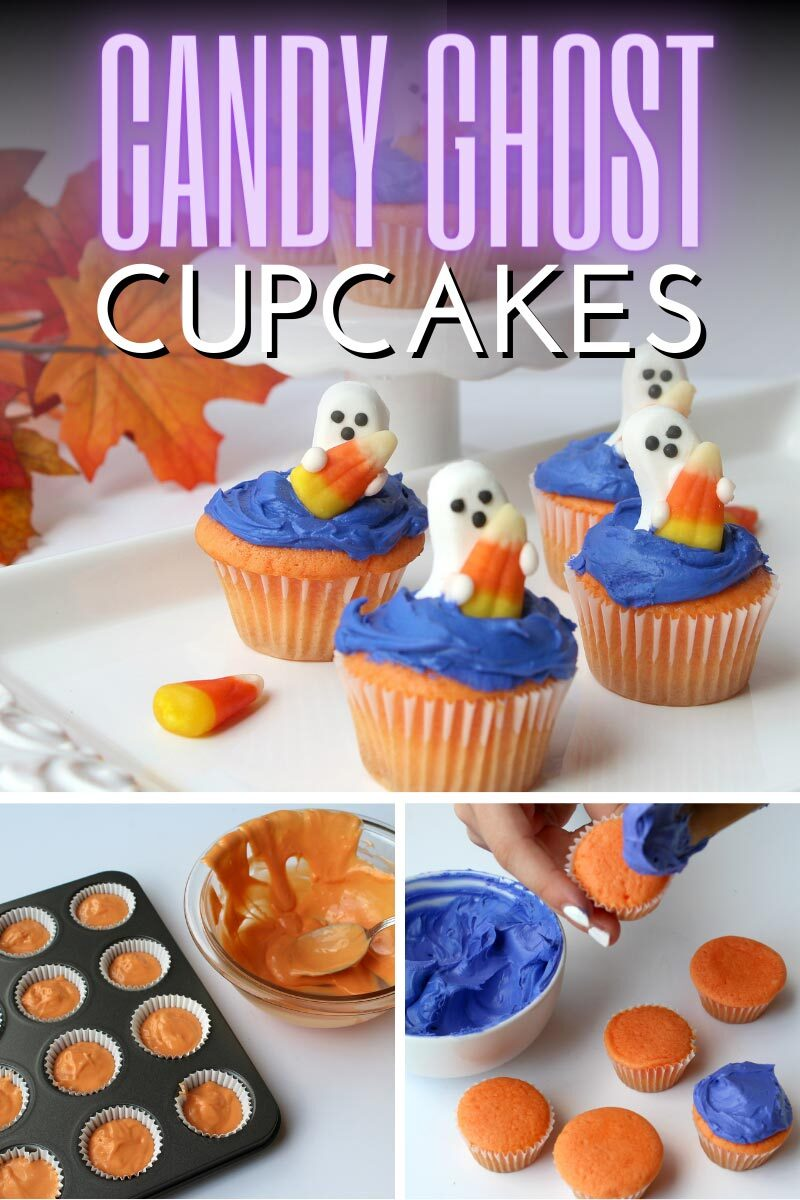 Candy Ghost Cupcakes