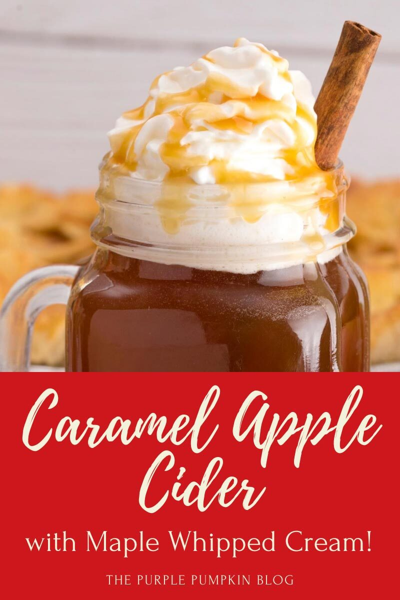 Caramel Apple Cider Recipe with Maple Whipped Cream