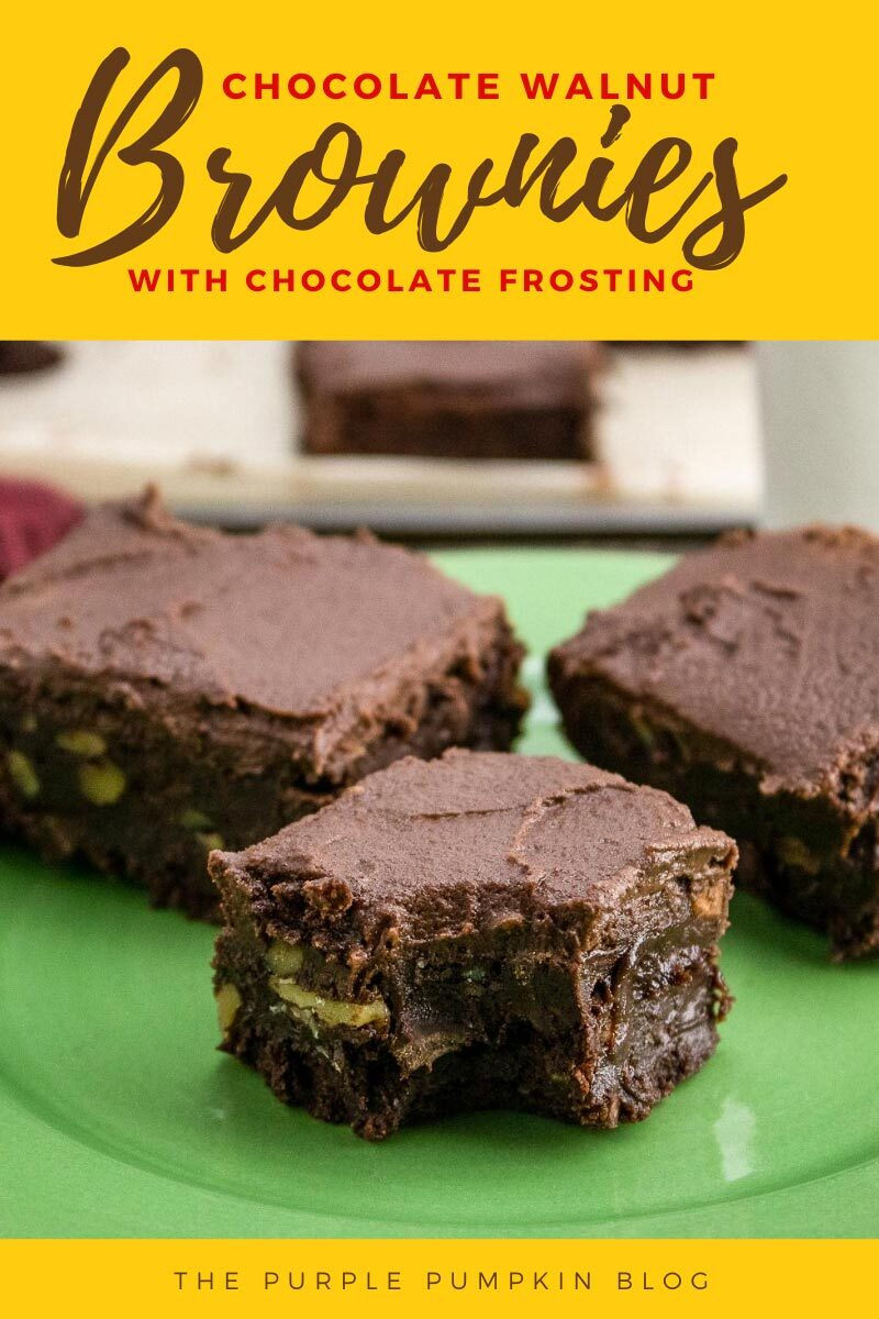 Chocolate Walnut Brownies Recipe with Chocolate Frosting