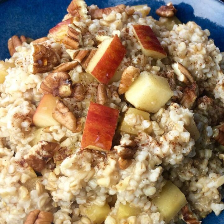 Slow Cooker Overnight Oats with Apple & Cinnamon
