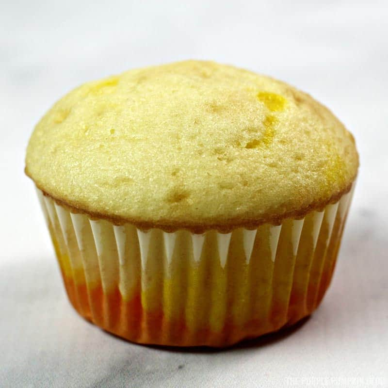 Cooked Candy Corn Cupcake